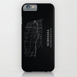 Nebraska State Road Map iPhone Case