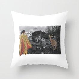 Snow Lady knows bambi Throw Pillow