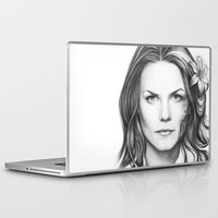 house md Laptop & iPad Skins featuring Dr. Cameron-House MD-Jennifer Morrison-Portrait by Olechka