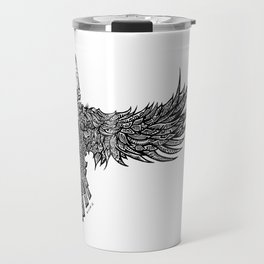 Ghost Raven Travel Mug
