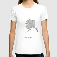 alaska T-shirts featuring Alaska map by David Zydd