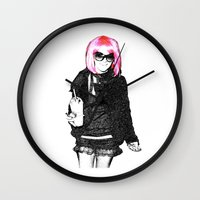 britney spears Wall Clocks featuring Britney Spears by KBK24