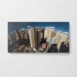 San Jorge neighbourhood in La Paz, Bolivia Metal Print
