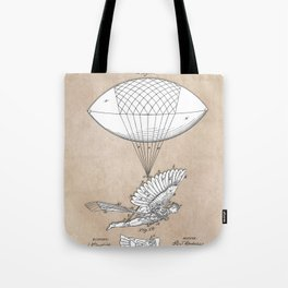 patent art Spalding Flying Machine 1889 Tote Bag