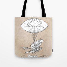patent art Spalding Flying Machine 1889 Tote Bag