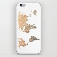 GOLD WORLD MAP iPhone & iPod Skin