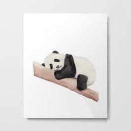 Watercolor Panda Metal Print