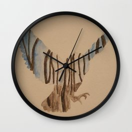 Fly at night Wall Clock