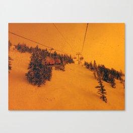 Sunshine Chairlift Canvas Print