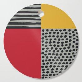 Earth Tone, Red Orange Pattern, Scandinavian Design Cutting Board