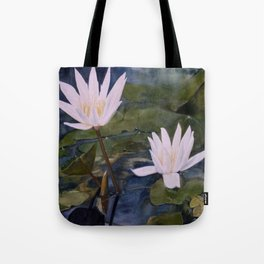 Watercolor Flower Water Lily Landscape Nature Tote Bag