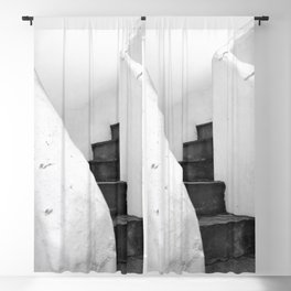 Black and White Stairs Blackout Curtain
