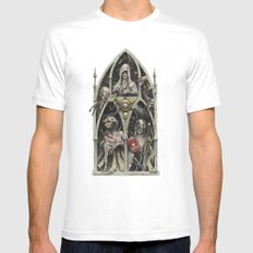 The Stygian Witches SMALL White Mens Fitted Tee