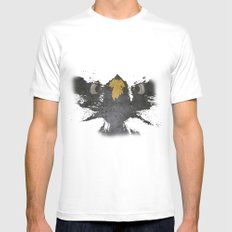 angry eagle White MEDIUM Mens Fitted Tee