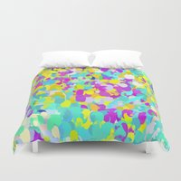 confetti Duvet Covers featuring Confetti  by Maggie Dylan
