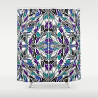 comic book Shower Curtains featuring Jewel Tone Comic Book by JessicaR