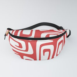 Mid Century Modern Cosmic Abstract 612 Red Fanny Pack