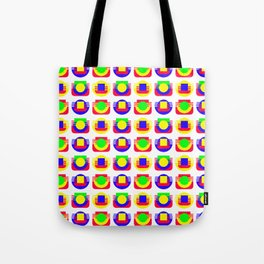 Primary Colors, White Background Tote Bag
