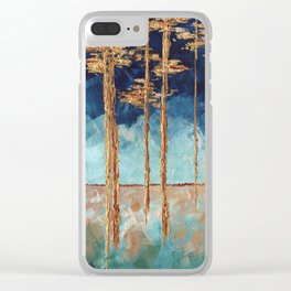 Forest of Blue and Gold Clear iPhone Case