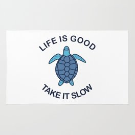 Life Is Good Take It Slow Rug