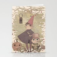 over the garden wall Stationery Cards featuring Over the Garden Wall by Hamish Steele