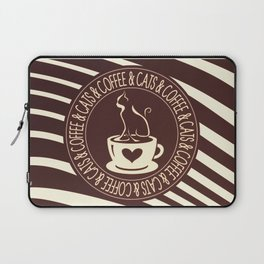 Coffee & Cats & Coffee Laptop Sleeve