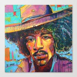 Large Jimi Hendrix Wall Art Acrylic Painting Pop Art American Icon by modern artist Damon Gray Canvas Print
