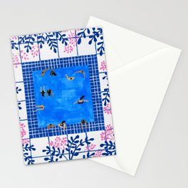 Floral Pool Stationery Cards