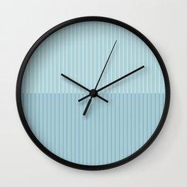 Color Block Lines VIII Blue Wall Clock
