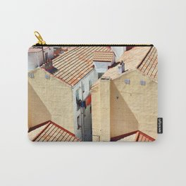Old houses in poor quarter with tiled roofs Carry-All Pouch