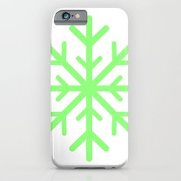 Snowflake (Light Green & White) iPhone Case