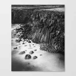 The basalt cliff of Arnarstapi Canvas Print