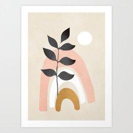 Minimal Abstract Shapes 16 Art Print