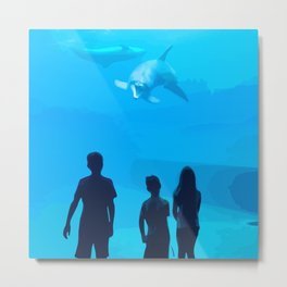 Adventure Meeting the sea Metal Print