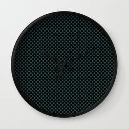 Black and June Bug Polka Dots Wall Clock