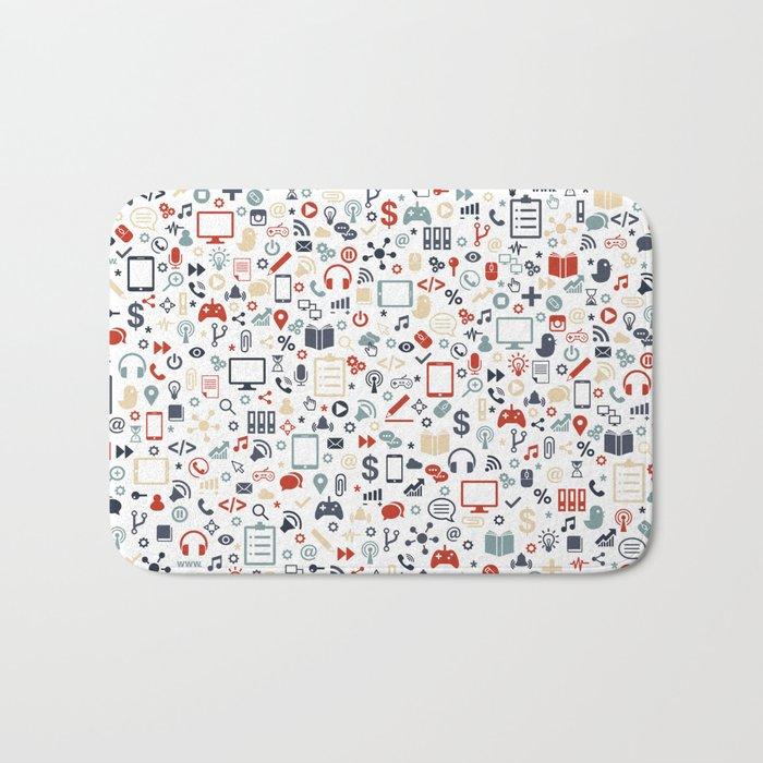 Icon pattern Bath Mat