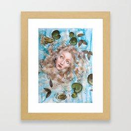 Ophelia Amphibian Framed Art Print