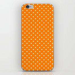 Dots (White/Orange) iPhone Skin