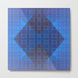 Light-blue-pattern Metal Print