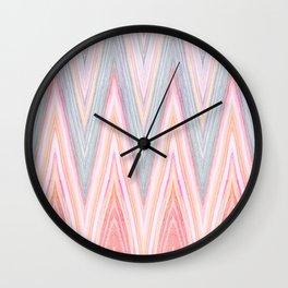 Agate Chevron Wall Clock
