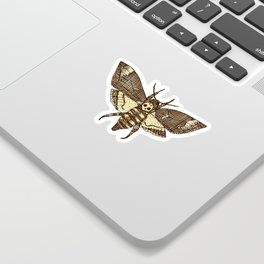 Death's-head hawkmoth rust Sticker