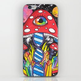 Psychedelic DNA iPhone Skin
