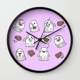Ghosts Love Chocolate Wall Clock
