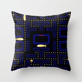 Pac-Fish III Throw Pillow