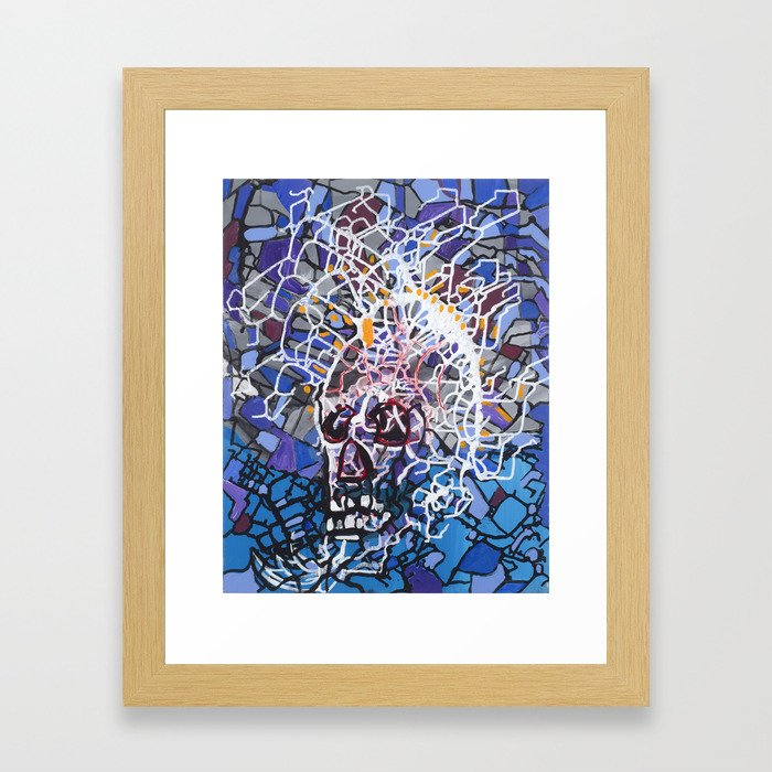 Electric Skull Framed Art Print