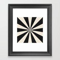 black starburst Framed Art Print