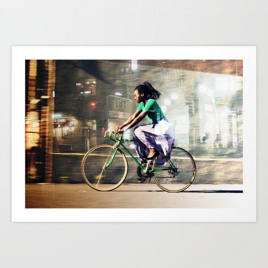 The Cyclist Art Print