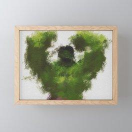 Smashing Green Framed Mini Art Print