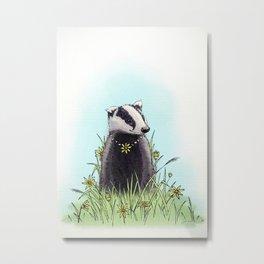 Daisy's Badger Metal Print
