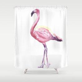 Full Flamingo Shower Curtain